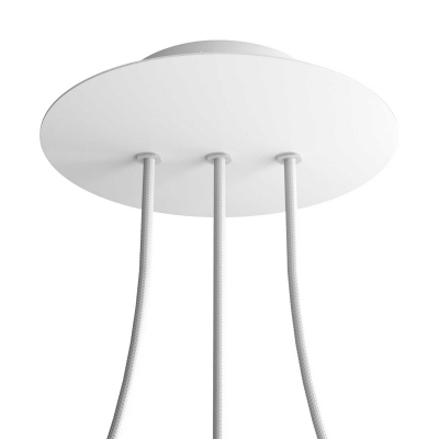 3 In-line Holes - LARGE Round Ceiling Canopy Kit - Rose One System
