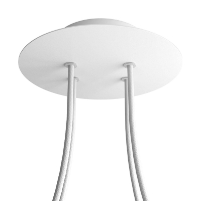 4 Holes - LARGE Round Ceiling Canopy Kit - Rose One System