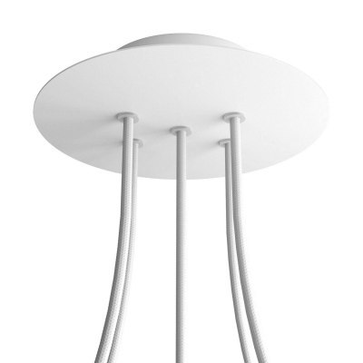 5 Holes - LARGE Round Ceiling Canopy Kit - Rose One System