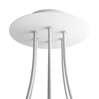 6 Holes - LARGE Round Ceiling Canopy Kit - Rose One System