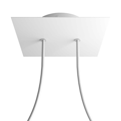 2 Holes - LARGE Square Ceiling Canopy Kit - Rose One System