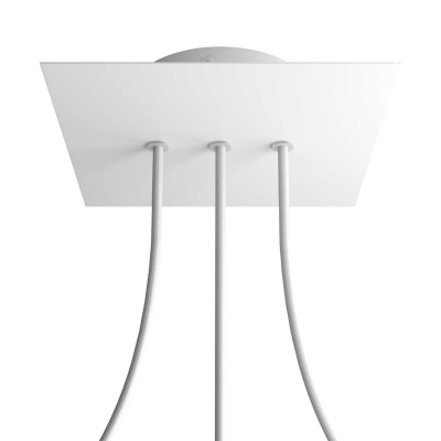 3 In-line Holes - LARGE Square Ceiling Canopy Kit - Rose One System