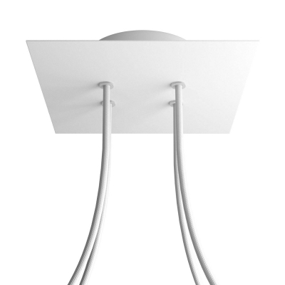 4 Holes - LARGE Square Ceiling Canopy Kit - Rose One System