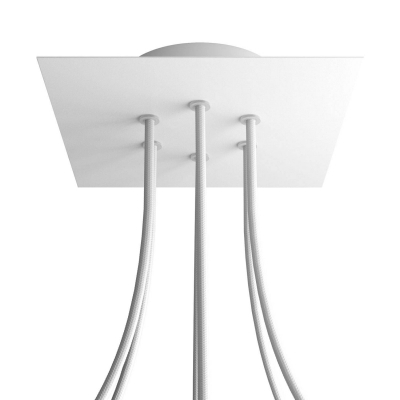 6 Holes - LARGE Square Ceiling Canopy Kit - Rose One System