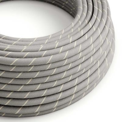 Round Electric Vertigo Cable covered by Eggnog Linen and Cotton ERD22