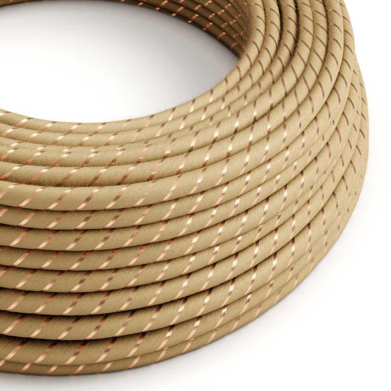 Round Electric Vertigo Cable covered by Jute with Copper Thread ERR04
