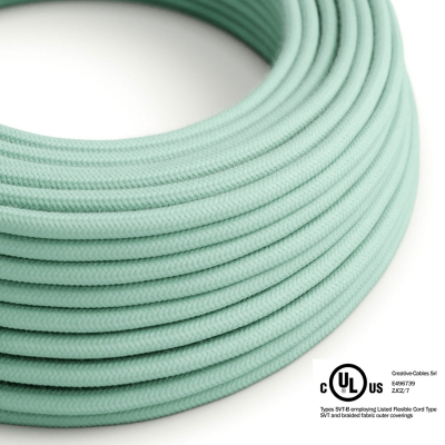 Mint Green Cotton covered Round electric cable - RC34