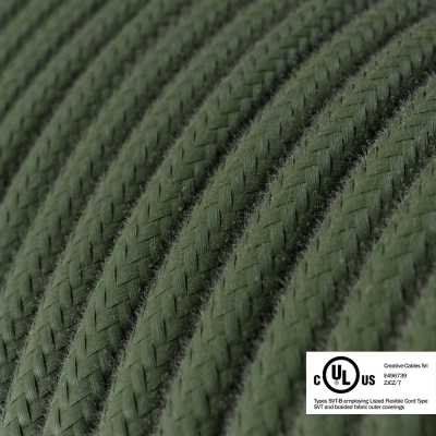 Gray Green Cotton covered Round electric cable - RC63