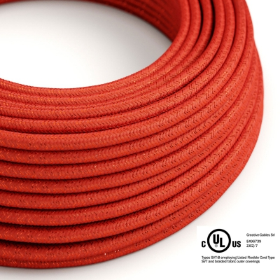 Red Glitter covered Round electric cable - RL09