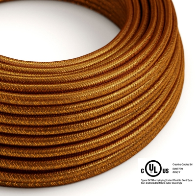 Copper Glitter covered Round electric cable - RL22
