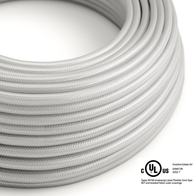 Silver Rayon covered Round electric cable - RM02