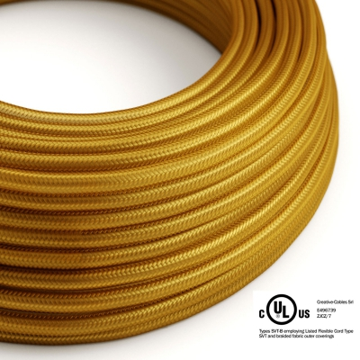 Gold Rayon covered Round electric cable - RM05