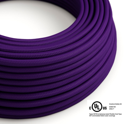 Violet Rayon covered Round electric cable - RM14