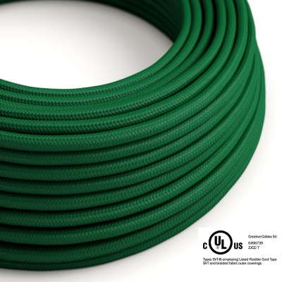 Emerald Green Rayon covered Round electric cable - RM21