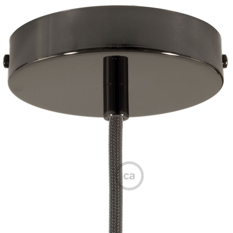 Classic 1-hole Round Metal Ceiling Canopy Kit
