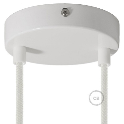 Classic 2-hole Round Metal Ceiling Canopy Kit