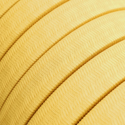 Electric Cable Color Cord for Custom String Lights, covered by Rayon fabric Yellow (CM10)