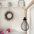 Twisted Linen Cable Pendant with Black Metal Drop Lampshade - Insta Combo