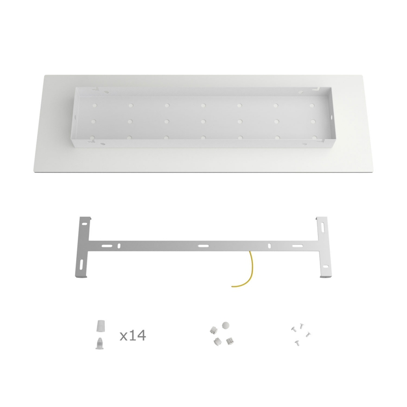 14 hole - EXTRA LARGE Rectangular Ceiling Canopy Kit - Rose One System, 675 x 225 mm Cover