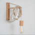 Natural & White Plugin Pendant with Pinocchio Wall Mount