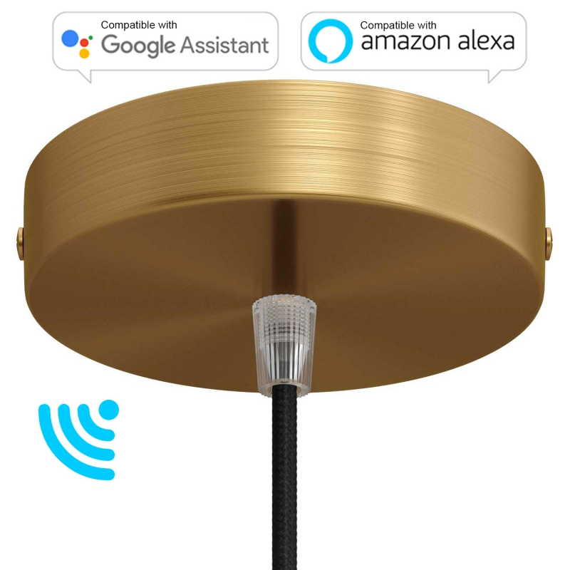 SMART cylindrical metal ceiling canopy kit - compatible with voice assistants