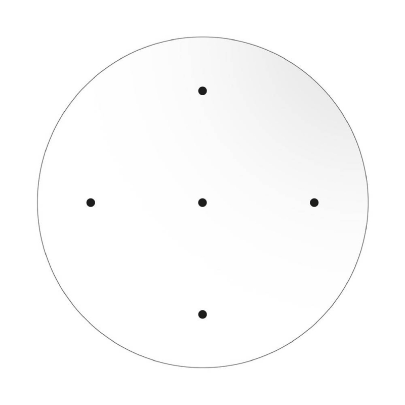 Large Round Smart ceiling canopy, 400 mm Cover Rose-One with 5 holes - compatible with voice assistants