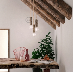 Wooden Logs - The perfect pendant light socket for your cabin or rustic decor